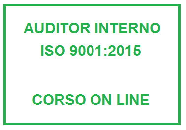 Corso on line Auditor interno ISO 9001:2015