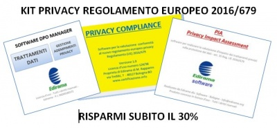 KIT PRIVACY REGOLAMENTO EUROPEO 2016/679