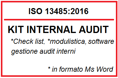 Kit audit interno ISO 13485:2016