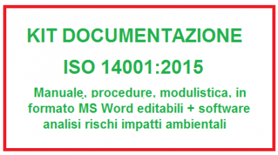 Kit documentazione ISO 14001:2015