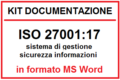 Kit documentazione ISO 27001:17