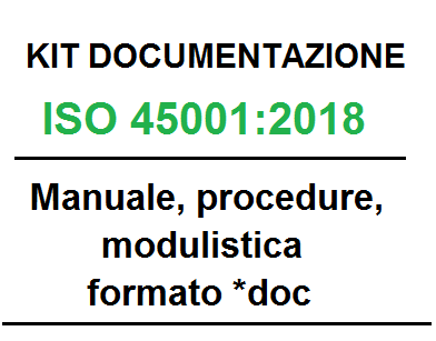 Kit documentazione ISO 45001:18