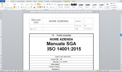 Manuale ambientale ISO 14001:2015