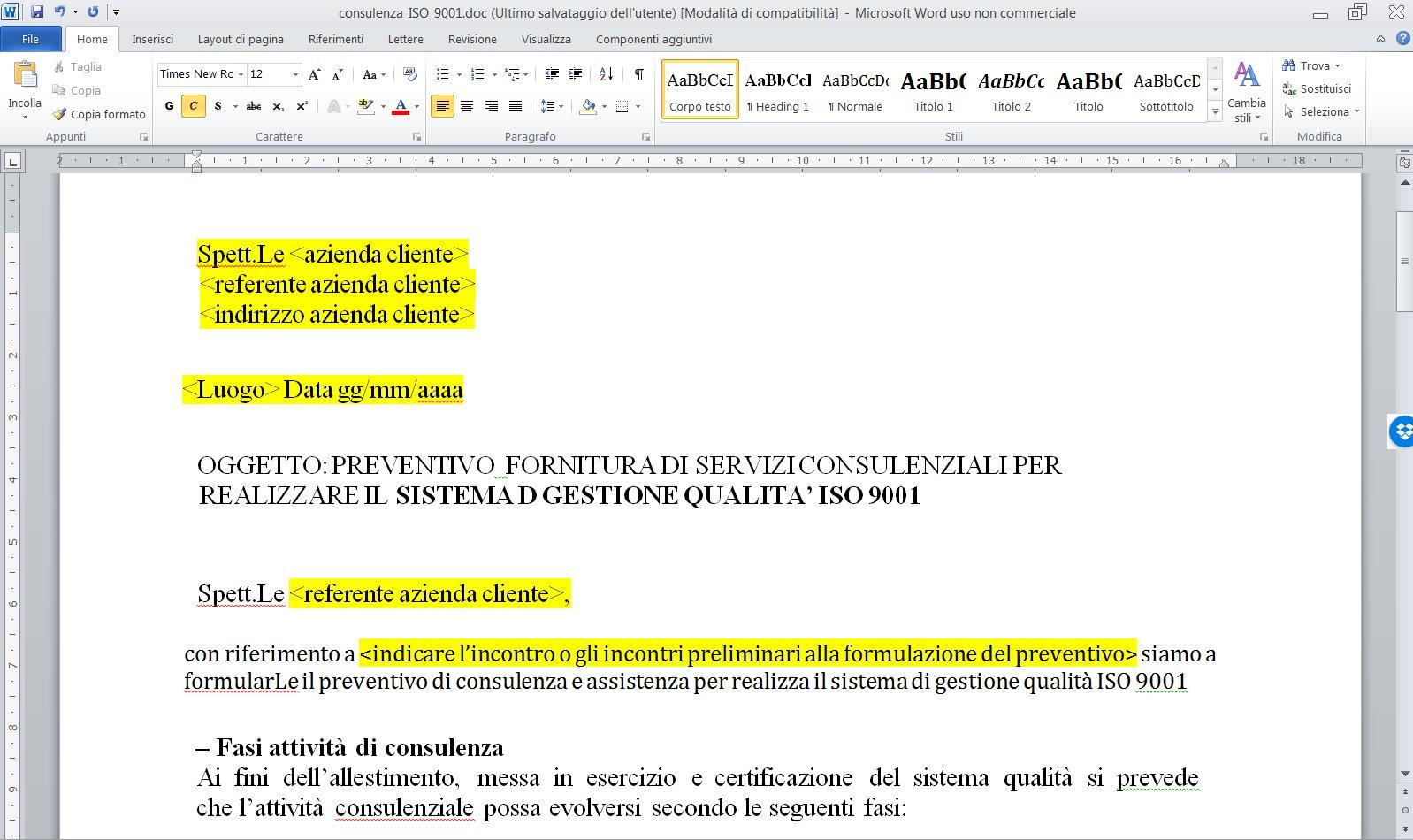 Modelli preventivi di consulenza - Modello preventivo ristrutturazione casa ...