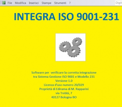 Software Integra 9001 - 231